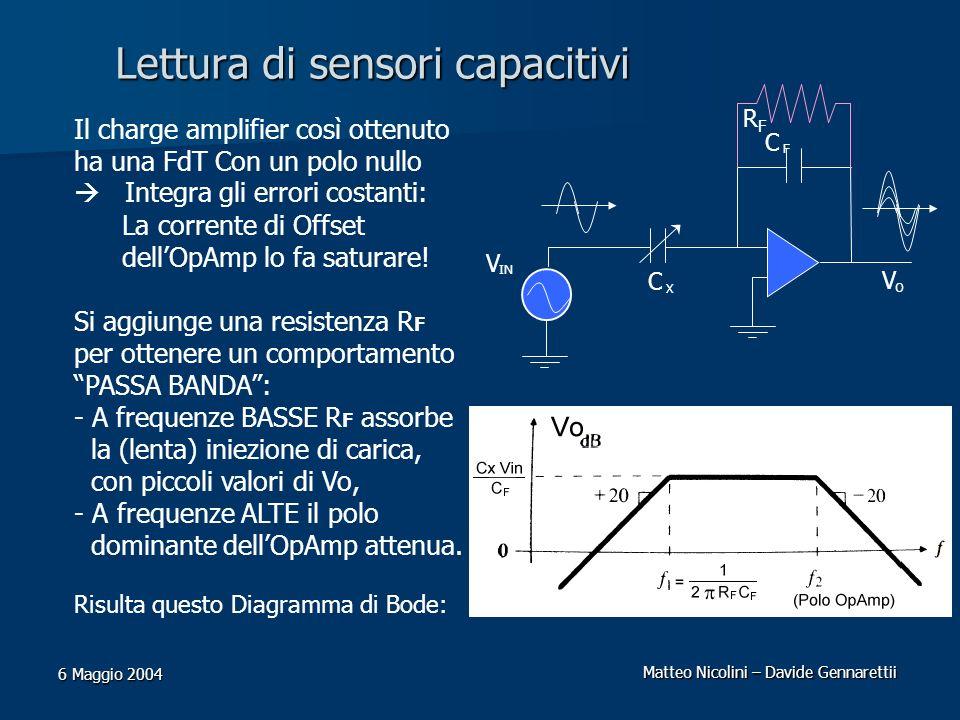 Lettura di sensori capacitivi