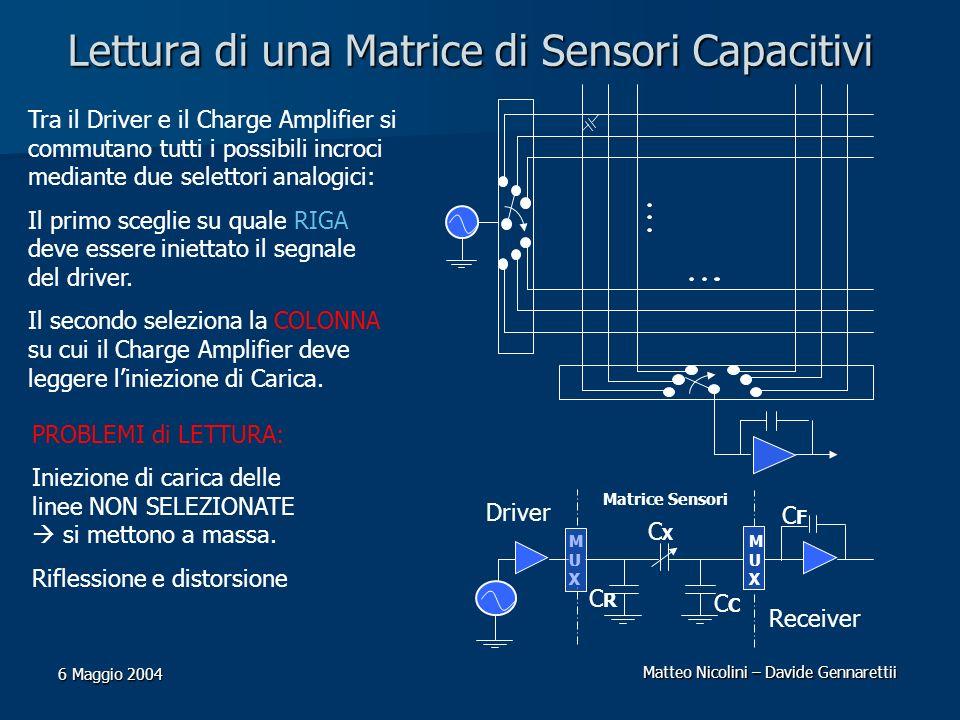 Lettura di una Matrice di Sensori Capacitivi