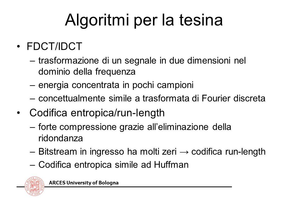 Algoritmi per la tesina