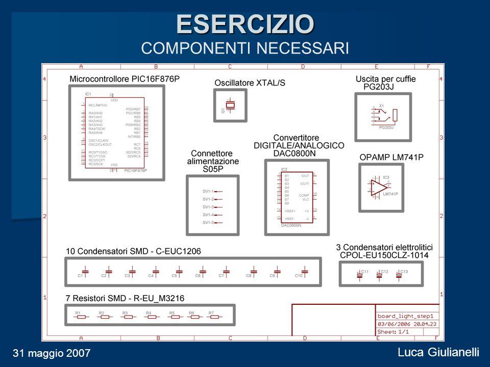 ESERCIZIO COMPONENTI NECESSARI 31 maggio 2007 Luca Giulianelli