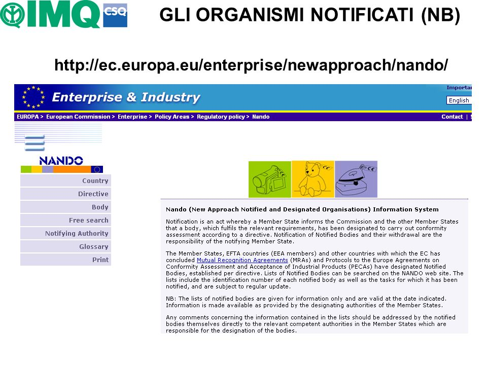 GLI ORGANISMI NOTIFICATI (NB)