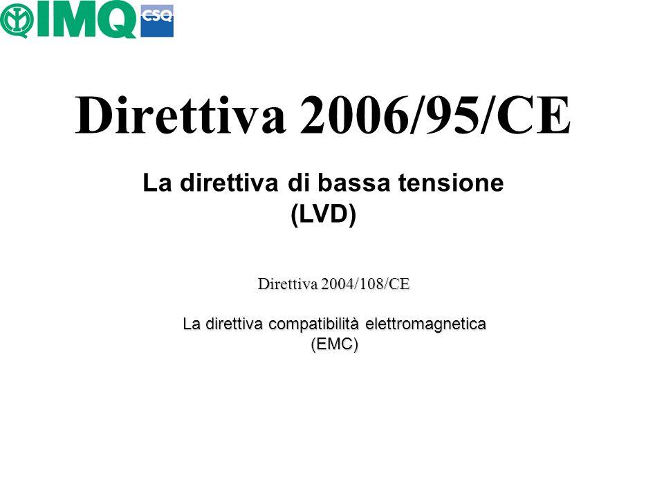 La direttiva di bassa tensione