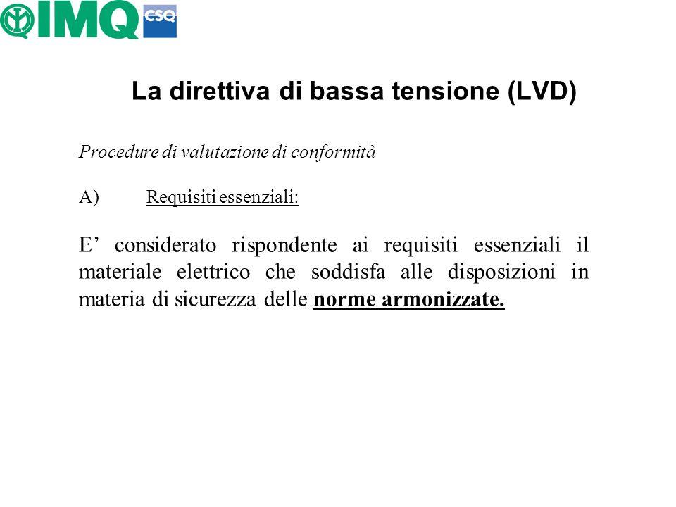 La direttiva di bassa tensione (LVD)