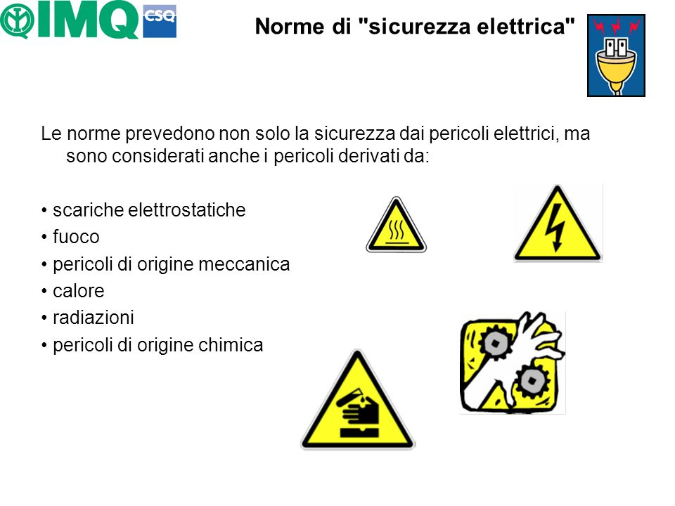 Norme di sicurezza elettrica