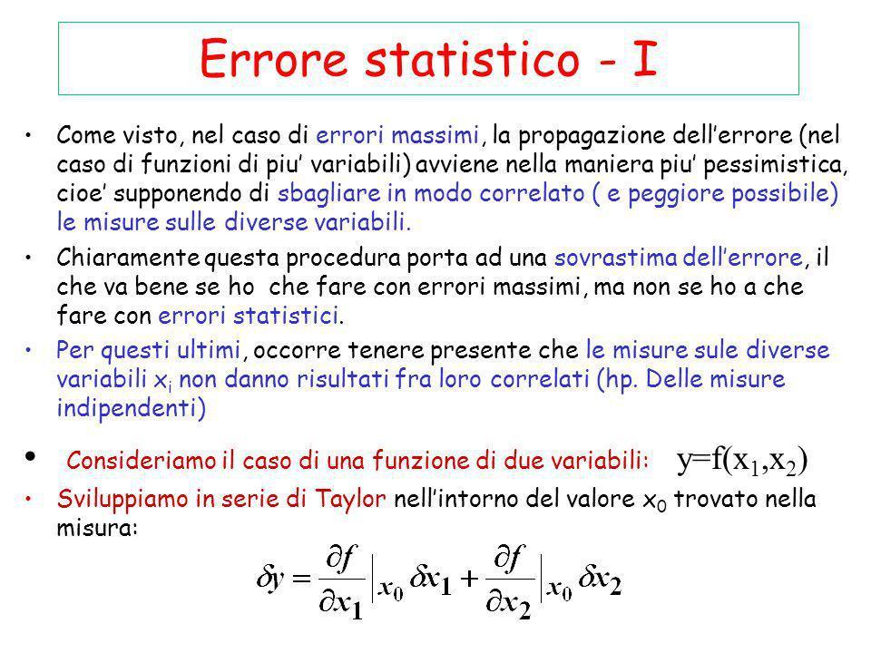 Errore statistico - I