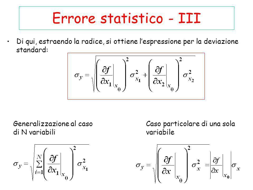 Errore statistico - III