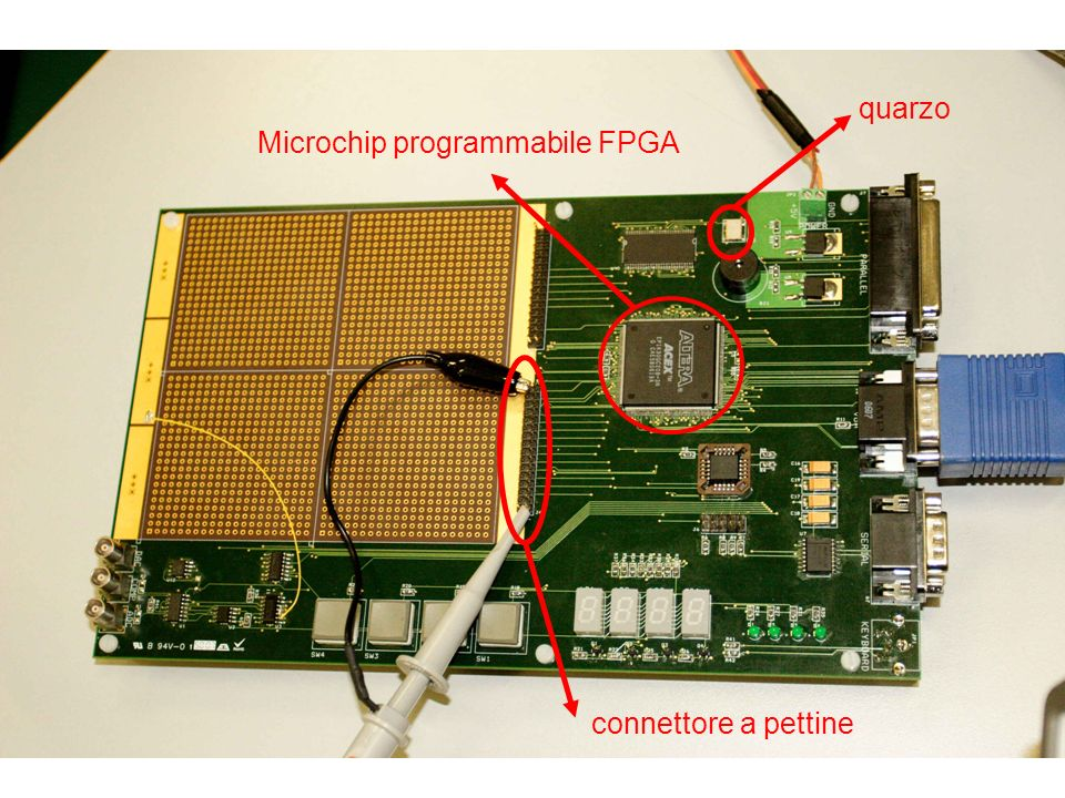 quarzo Microchip programmabile FPGA connettore a pettine
