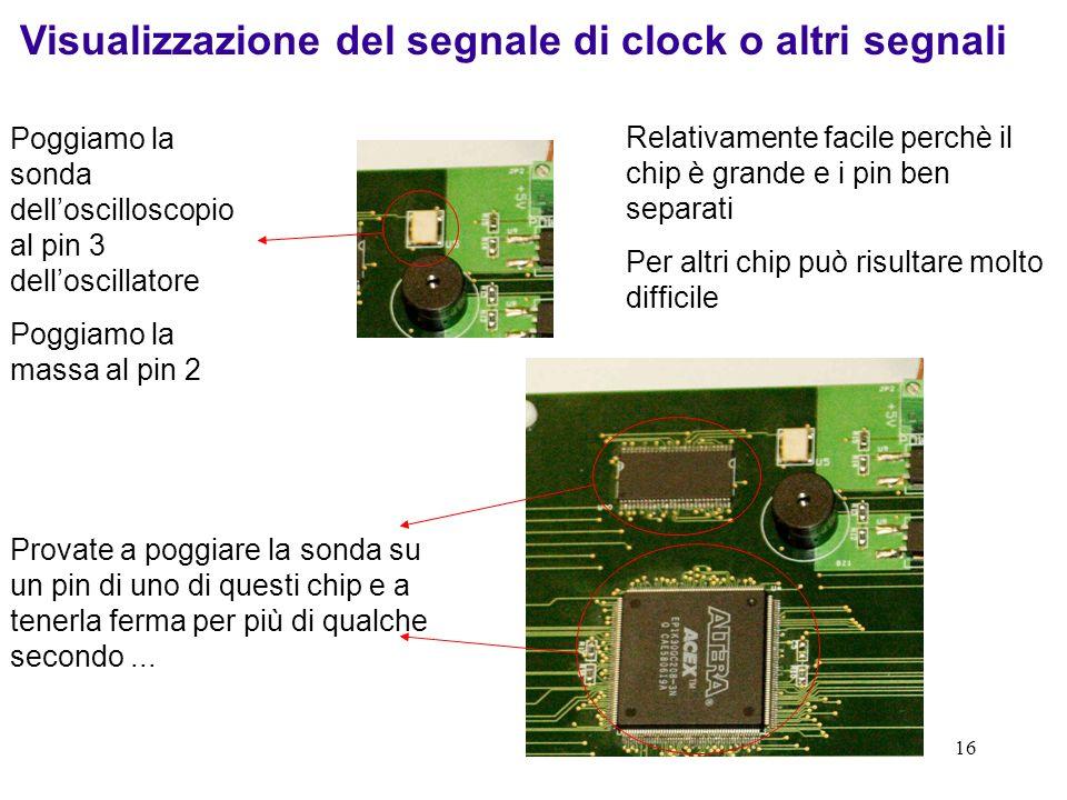 Visualizzazione del segnale di clock o altri segnali