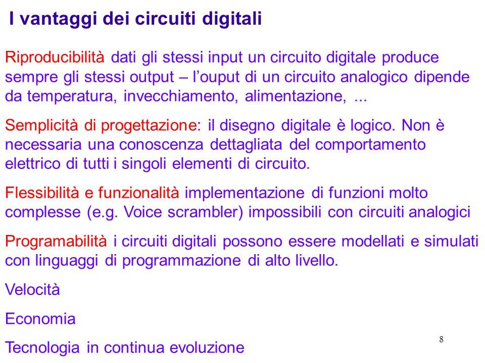 I vantaggi dei circuiti digitali