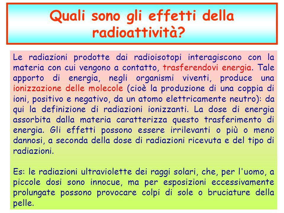 Quali sono gli effetti della radioattività