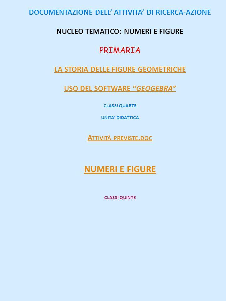 numeri e figure DOCUMENTAZIONE DELL' ATTIVITA' DI RICERCA-AZIONE
