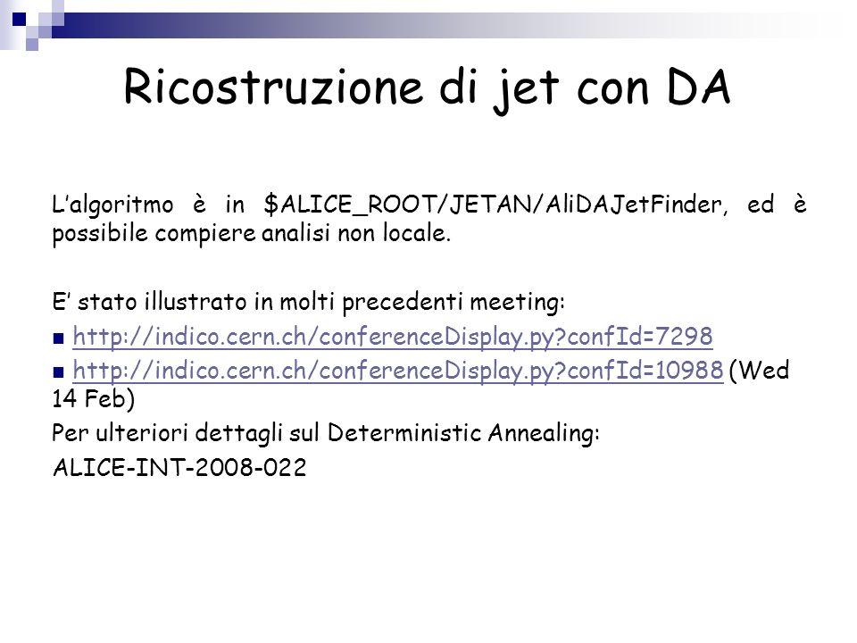 Ricostruzione di jet con DA