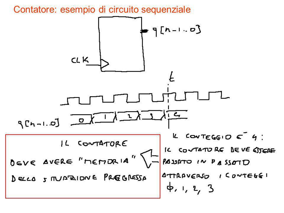 Contatore: esempio di circuito sequenziale