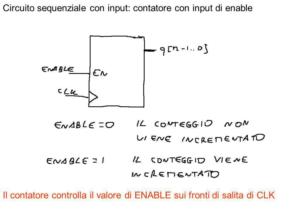 Circuito sequenziale con input: contatore con input di enable