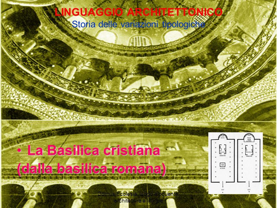 LINGUAGGIO ARCHITETTONICO Storia delle variazioni tipologiche