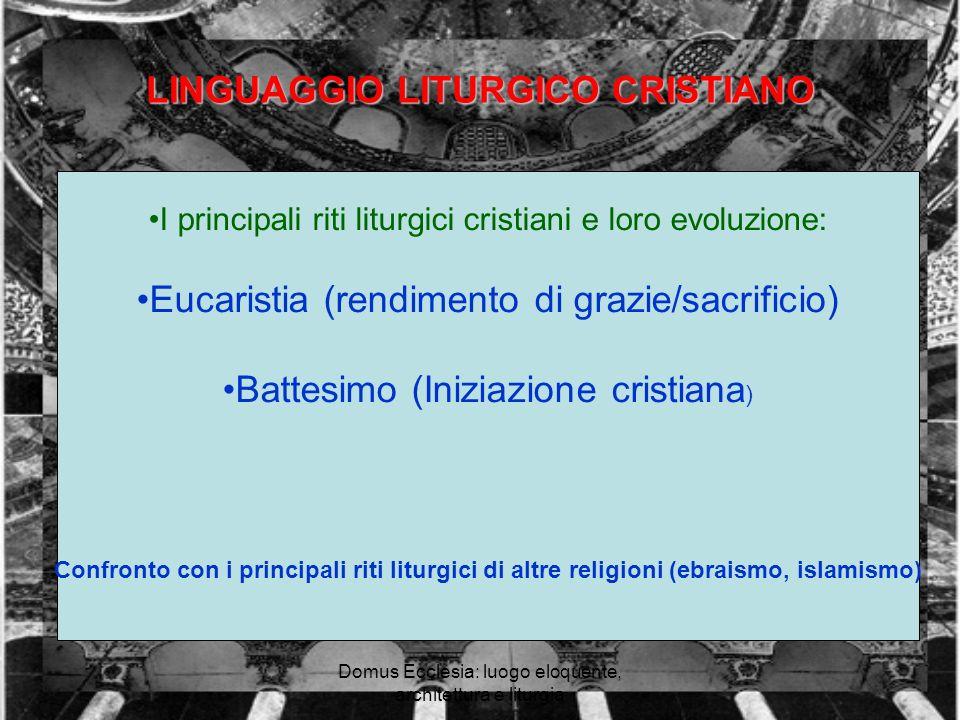 LINGUAGGIO LITURGICO CRISTIANO