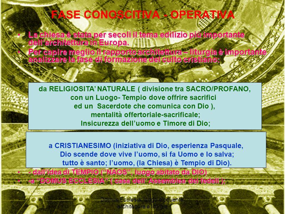FASE CONOSCITIVA - OPERATIVA