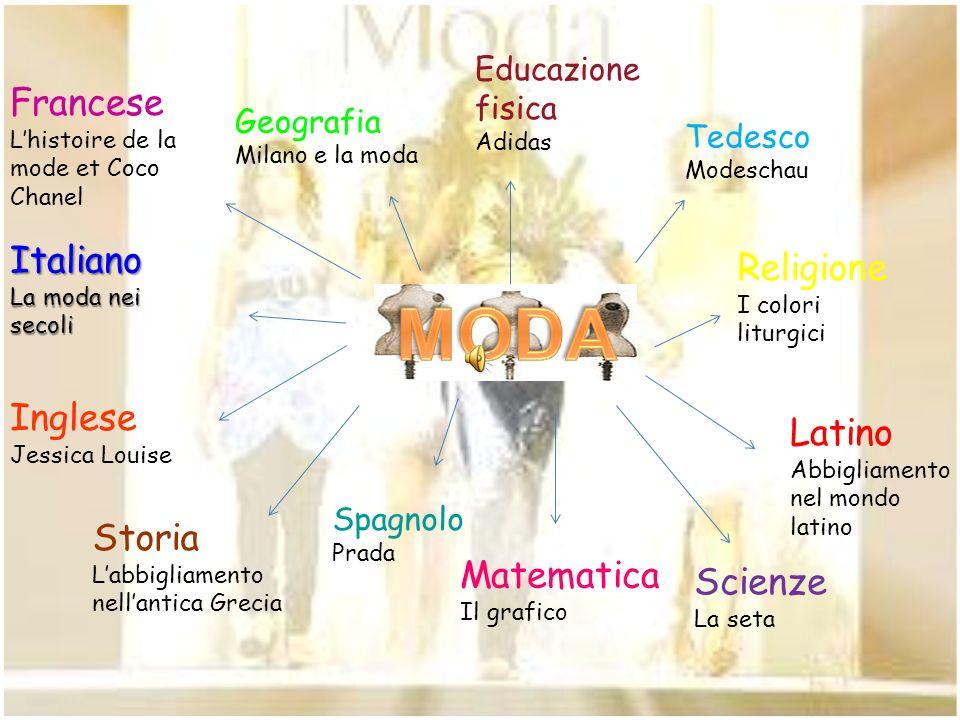 MODA Francese Italiano Religione Inglese Latino Storia Matematica