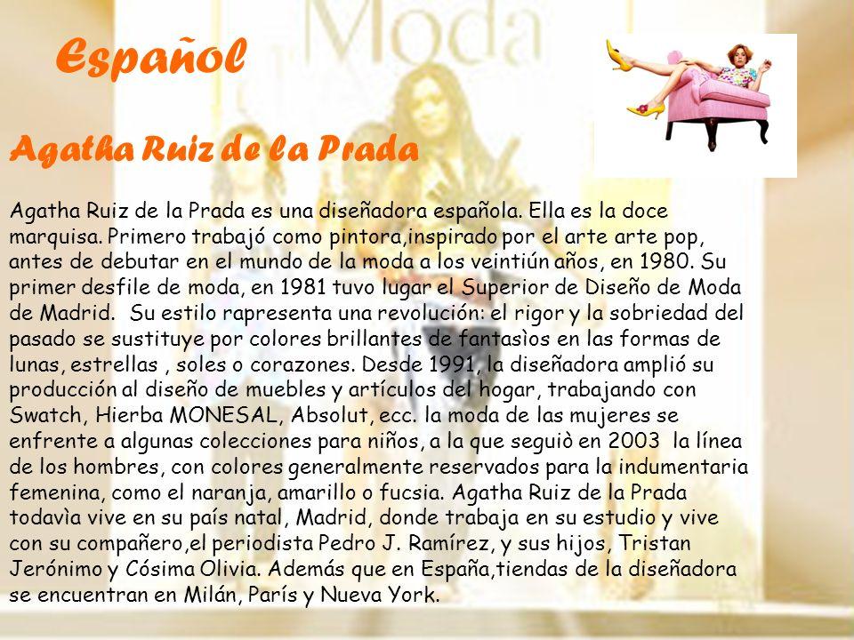 Español Agatha Ruiz de la Prada