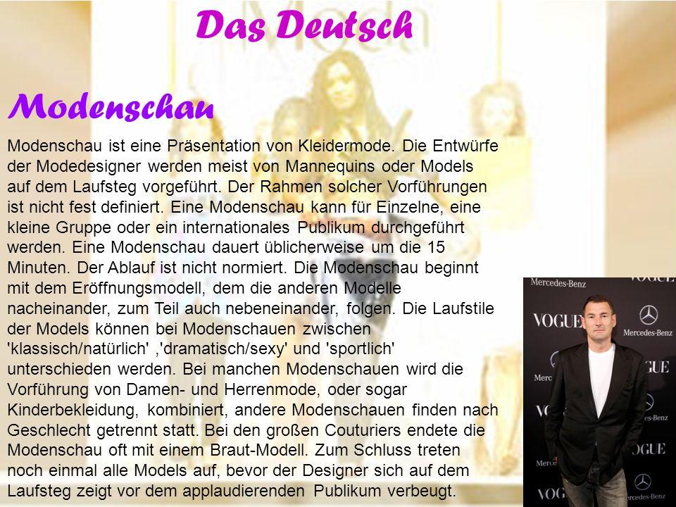 Das Deutsch Modenschau