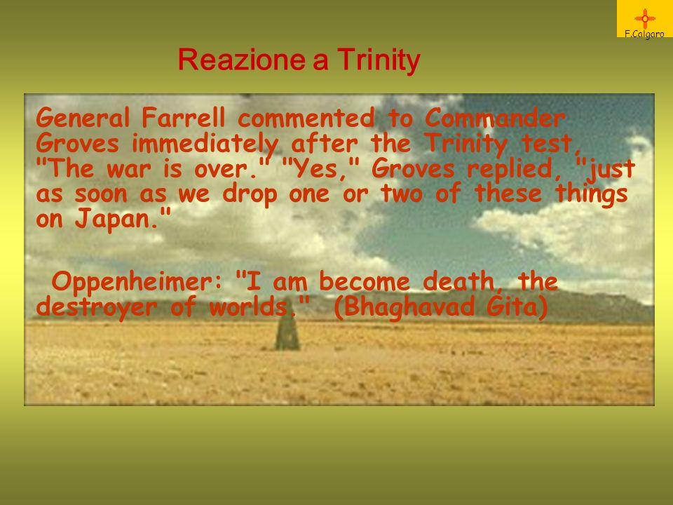 F.Calgaro Reazione a Trinity.