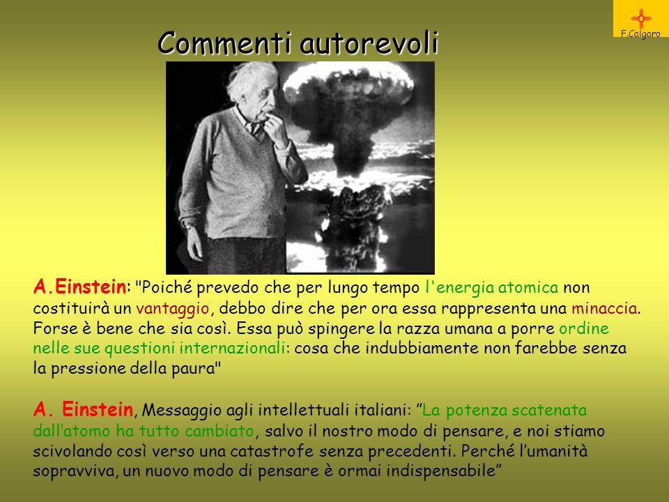 Commenti autorevoli F.Calgaro.