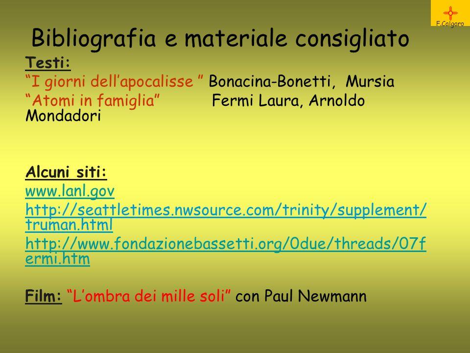 Bibliografia e materiale consigliato