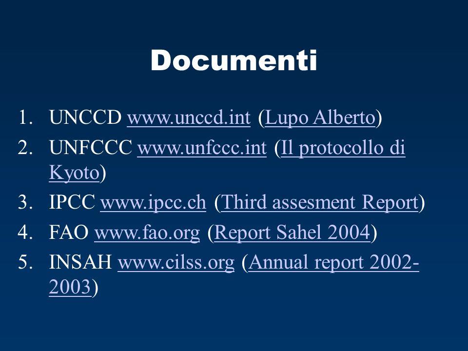 Documenti UNCCD www.unccd.int (Lupo Alberto)