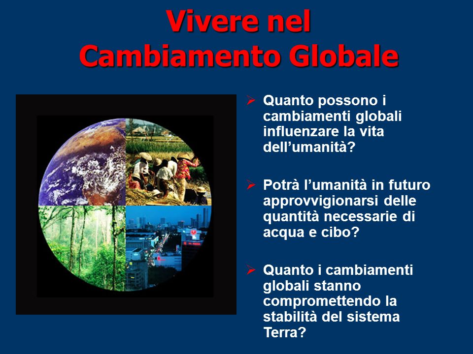 Vivere nel Cambiamento Globale
