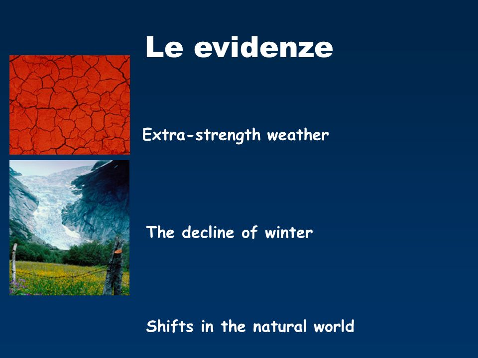 Le evidenze Extra-strength weather The decline of winter