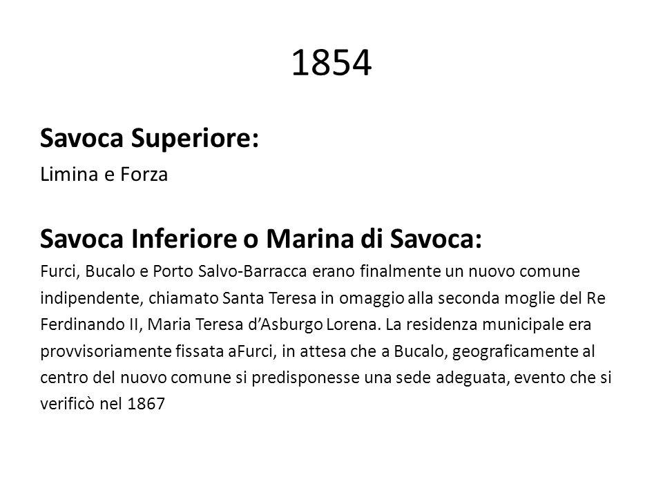 1854 Savoca Superiore: Savoca Inferiore o Marina di Savoca:
