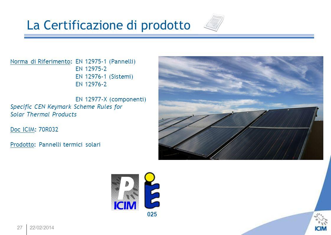 Energia e Risparmio Energetico La Certificazione di prodotto