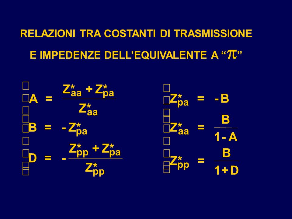 ì Z* + Z* ì ï A = ï Z* = - B Z* ï ï ï ï B í B = - Z* í Z* = 1 - A ï ï