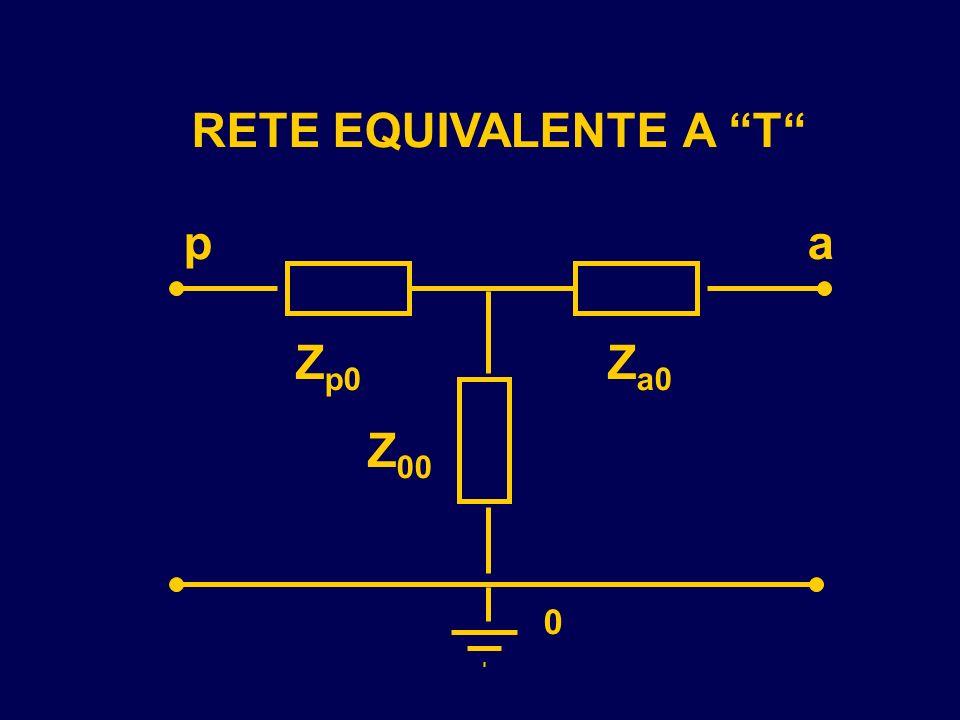 RETE EQUIVALENTE A T p a Zp0 Za0 Z00