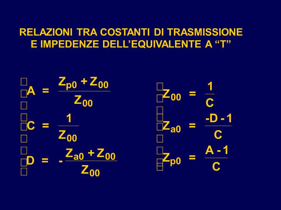 ì Z + Z ì 1 A = ï Z = Z ï C ï ï ï 1 ï -D - 1 í C = í Z = Z C ï ï ï ï A