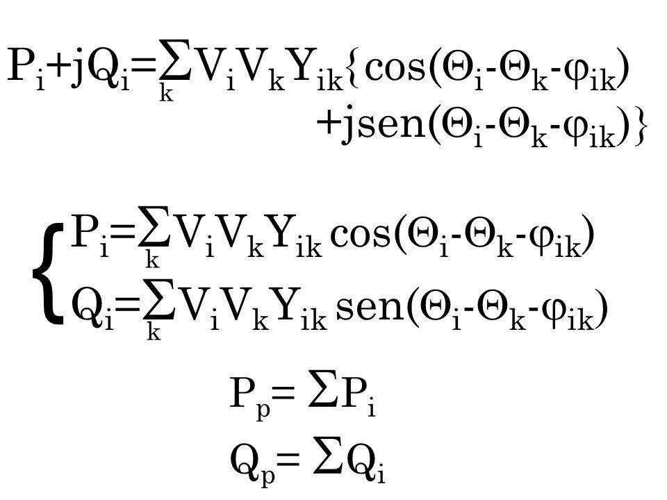 { Pi+jQi=ViVkYik{ cos(i-k-ik) +jsen(i-k-ik