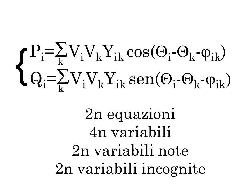 { Pi=ViVkYik cos(i-k-ik) Qi=ViVkYik sen(i-k-ik 2n equazioni
