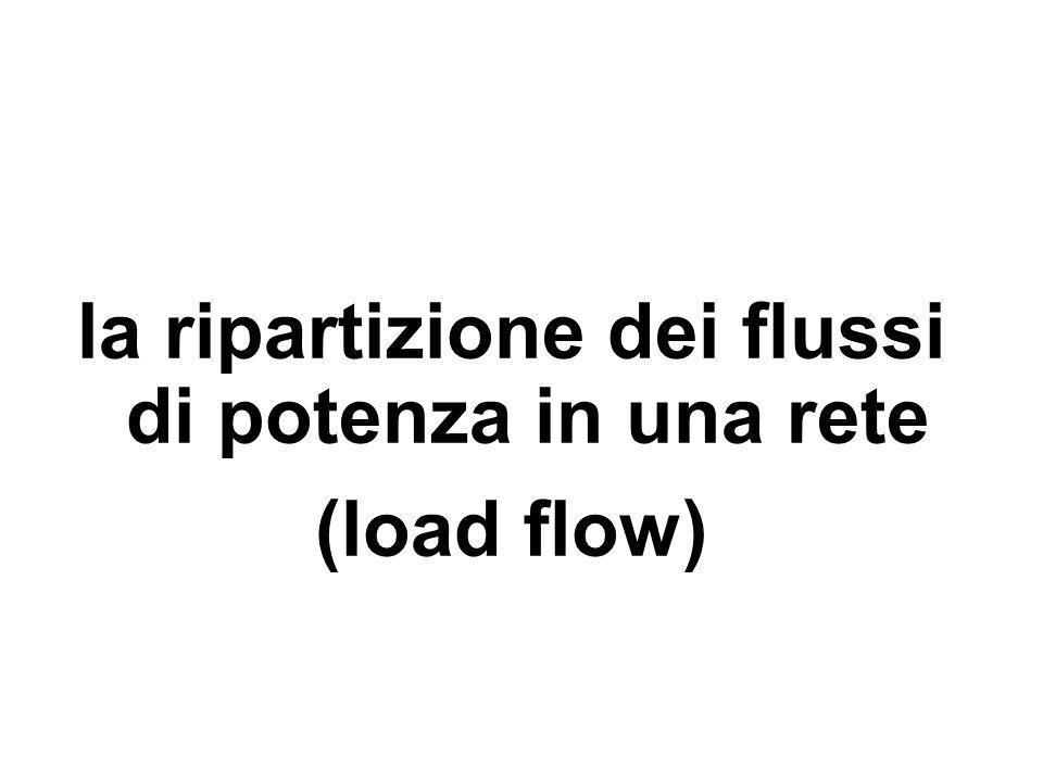 la ripartizione dei flussi di potenza in una rete