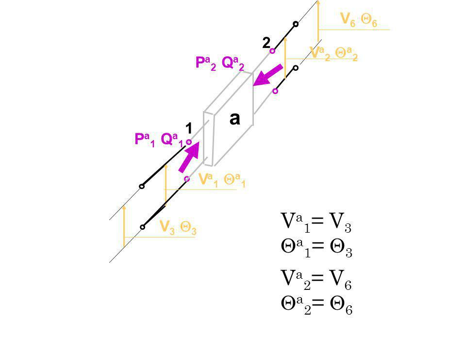 a Va1= V3 a1= 3 Va2= V6 a2= 6 V6 6 2 Va2 a2 Pa2 Qa2 1 Pa1 Qa1