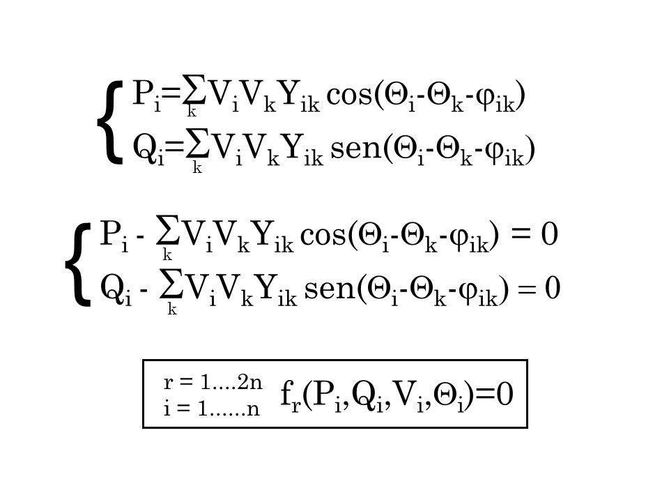 { { Pi=ViVkYik cos(i-k-ik) Qi=ViVkYik sen(i-k-ik