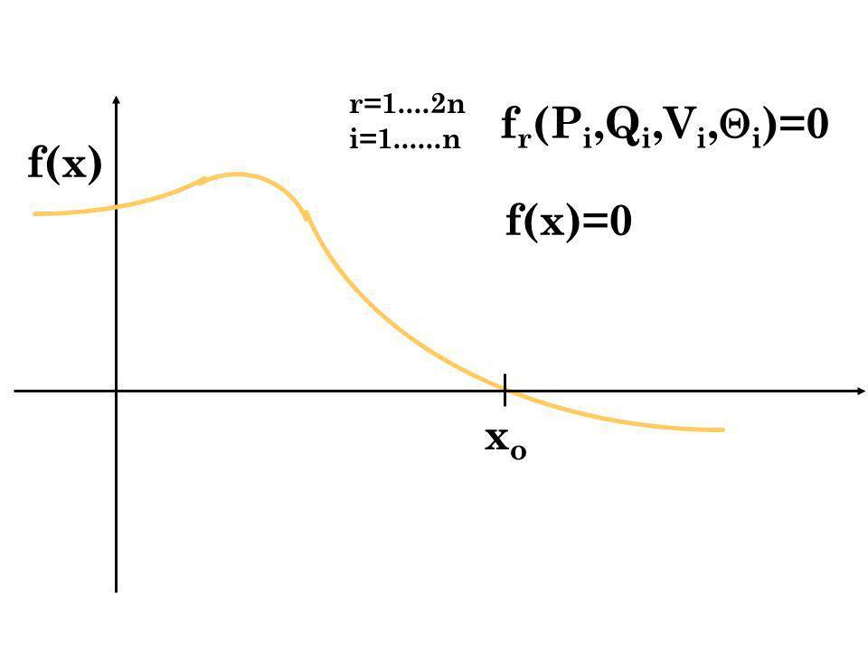 r=1....2n i=1......n fr(Pi,Qi,Vi,i)=0 f(x) f(x)=0 xo