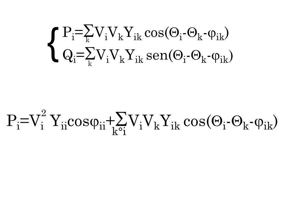{ Pi=Vi Yiicosii+ViVkYik cos(i-k-ik) Pi=ViVkYik cos(i-k-ik)