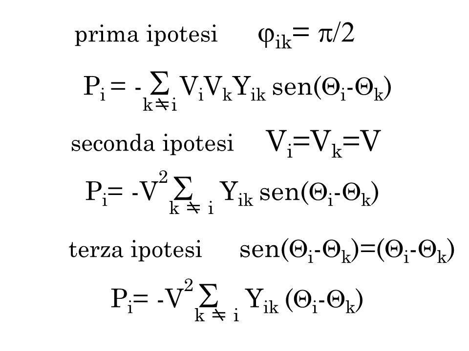 Pi = - ViVkYik sen(i-k)