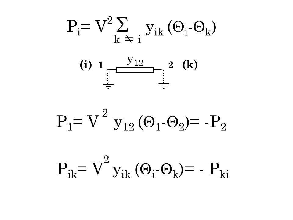 Pik= V yik (i-k)= - Pki