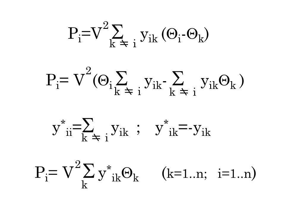 Pi= V (i  yik-  yikk )