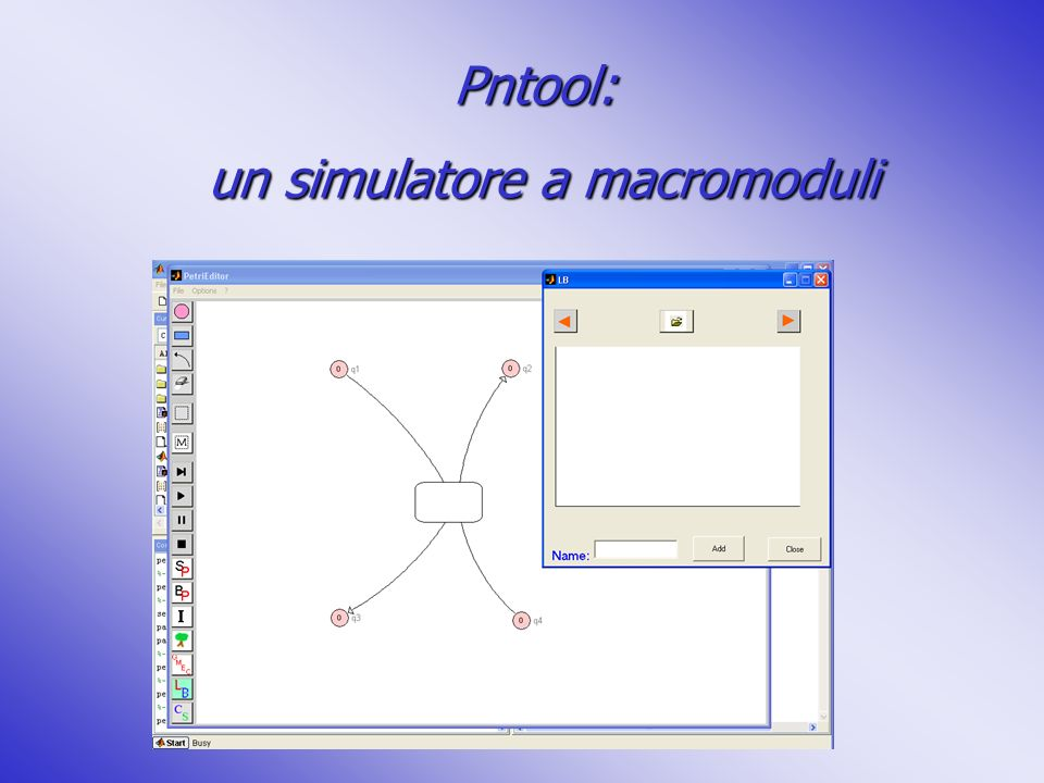 un simulatore a macromoduli