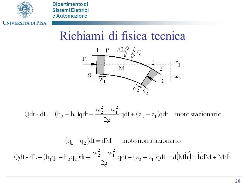 Richiami di fisica tecnica