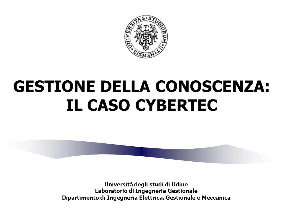 GESTIONE DELLA CONOSCENZA: IL CASO CYBERTEC