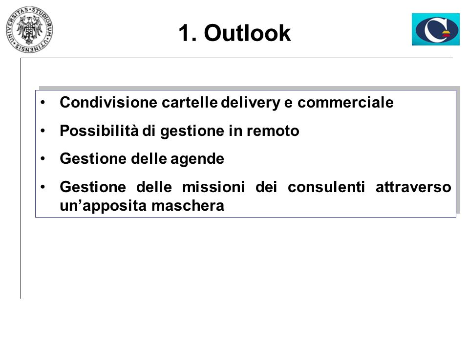 1. Outlook Condivisione cartelle delivery e commerciale