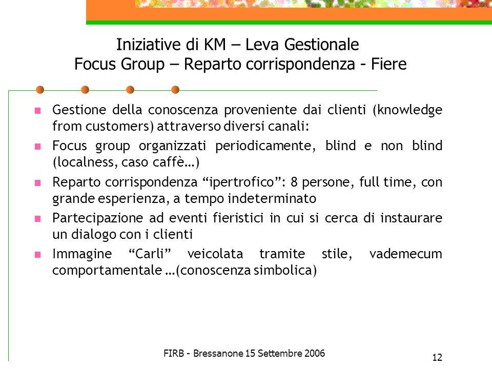 FIRB - Bressanone 15 Settembre 2006